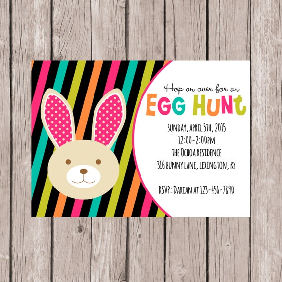 PRINTABLE- Easter Egg Hunt Invite