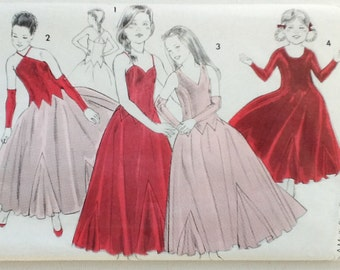 Girl's Ballroom / Party Dress Pattern, Nevtex Pattern 7390, Ages 5 - 10 Years, Uncut, 00502