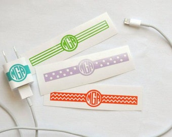iPhone and iPad Charger Monogram Sticker