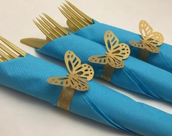 Butterfly Themed Party Cutlery, Cinderella Party Flatware, Cinderella Flatware