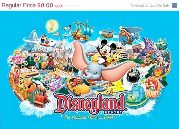 "ON SALE Counted Cross Stitch - Disneyland & characters- 35.43"" x 23.43"" - L844"