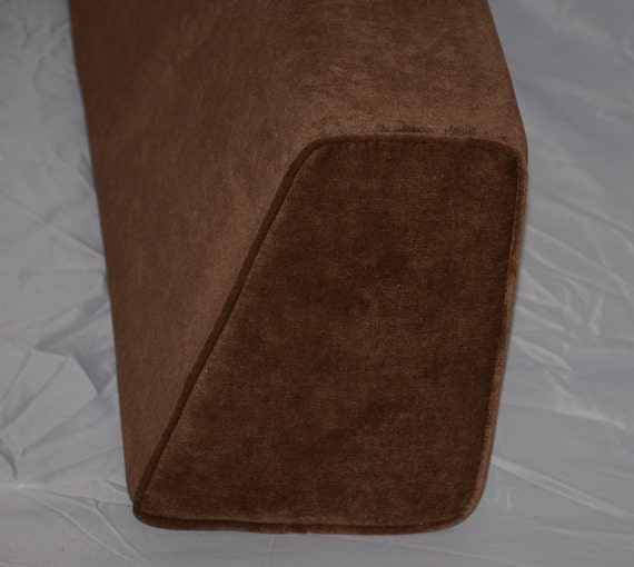 Daybed Wedge Bolster Cover Antique Velvet Chocolate