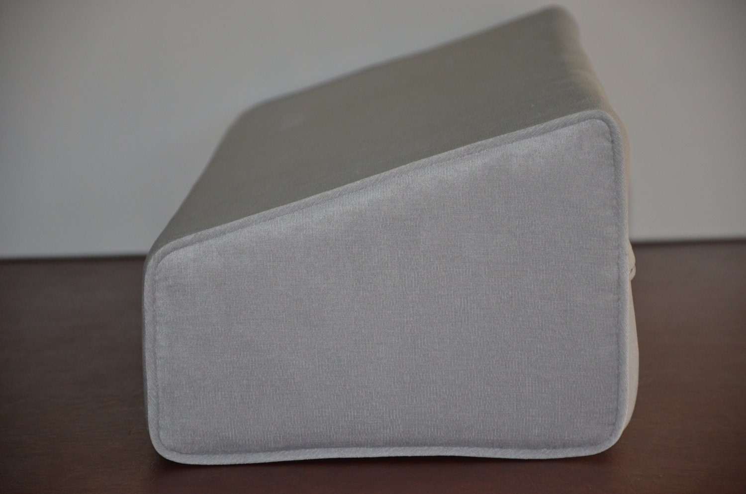 Daybed Wedge Bolster Foam And Cover Antique Velvet Grey