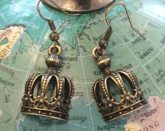 Royal Crown Charm Earrings