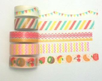 Colorful Pattern Washi Sample
