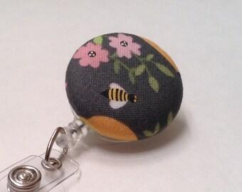 Badge Reel, Retractable Badge Holder, Nurse Key Card Holder, Swivel Badge Clip, ID Holder, Name Badge Holder, Retractable Lanyard, Bees