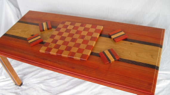 items similar to custom coffee table chess board coaster