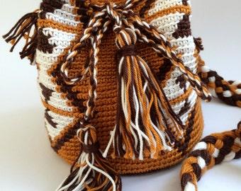 Mochila pattern mini mocca