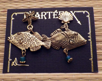 24K Gold Plated Fish Posts
