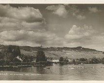 Rolle et signal de bougy.  Switzerland - 1933 Used Posted Real Photo Postcard