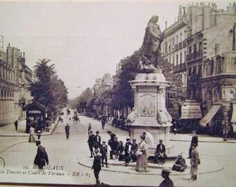 Bordeaux, France - Place Tourny et Cours de Verdun , Unused circa 1915 Postcard