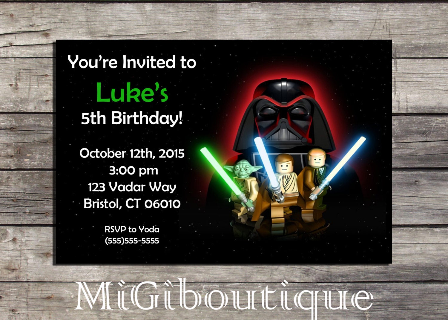 Star Wars Personalized Birthday Invitations with awesome invitation example