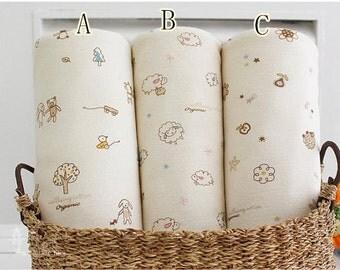 2015 natural organic colored cotton ,Knitting Fabric,knitted cotton,organic cotton, Double knit fabric,baby fabric, Light beige --1/2 yard