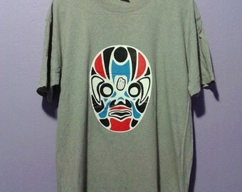 Vintage tilt theater japan mask tee shirt