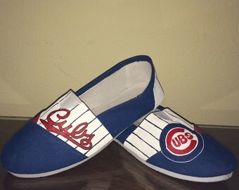 Chicago Cubs theme women's shoes Toms available