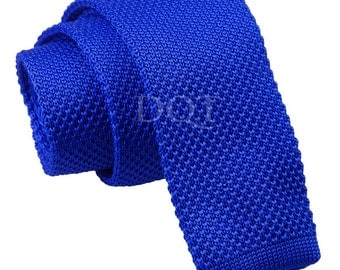 Knitted Royal Blue Tie