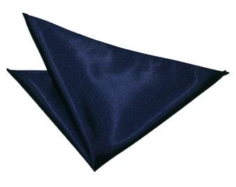 Satin Navy Blue Handkerchief / Pocket Square