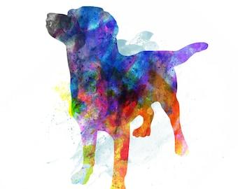 LAB Labrador Retriever Black Brown Yellow Chocolate Watercolor Print Pet Art Wall Decor New Puppy Gift
