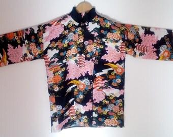 Vintage Chinese Shirt/Blouse/Top/Jacket/Kimono Floral Design.
