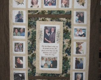 Personalized Custom Photo Memory Quilt-any Size and Color Combo-Free Shipping!