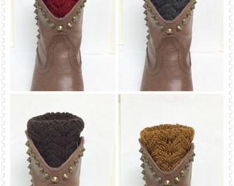 Boot cuffs ,Leg warmers , women boot cuffs, boot socks , socks topper ,crochet boot cuff, knit boot socks , gift ideas