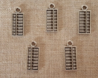 Abacus Charms x 5. Calculator Charms. Counting Frame Charms.  Childrens Charms.  Math Lovers Charms. Tibetan Silver Tone. UK Seller