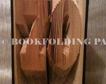 number 70 book folding pattern