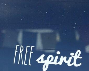 Free Spirit Sticker for Car, Laptop, iPad, Macbook Pro - boho