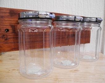 Large Glass Jars on wood