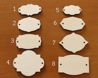 Tags - Lasercut blanks for craft - Lasercut blank - lasercut minis - set of 10