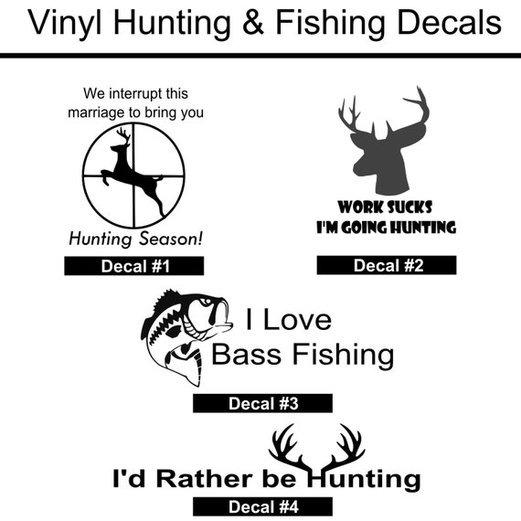 Hunting decal fishing decal hunting and fishing for Hunting and fishing decals