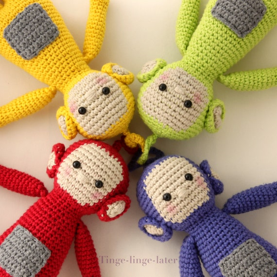 Teletubbies Knitting Pattern : Screenies crochet pattern amigurumi inspired by Teletubbies