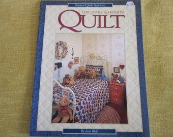 The stars and hearts quilt, book by Jean Wells,pattern, projects