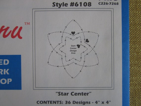 Stitch Thru Tear Away Stencils For Quilting Star By