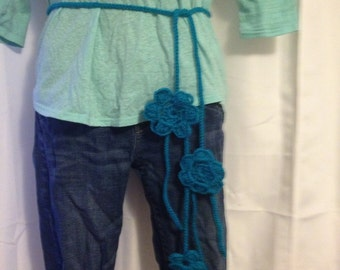 Crocheted Flower Belt- Variety of Colors
