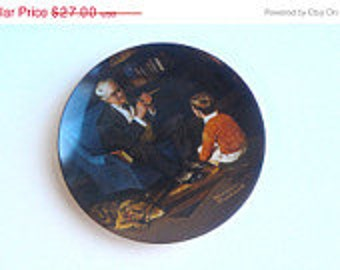 Vintage Norman Rockwell Collectors Plate 1982 The Tycoon