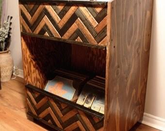 "Herringbone Storage Rack / Shelf for 12"" Vinyl LPs"