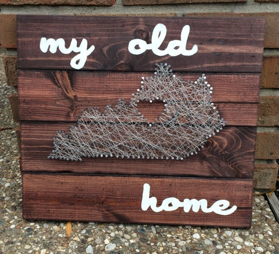 Items similar to my old kentucky home string art custom for Classic house string sound