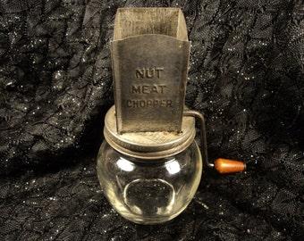 Nut Meat Chopper Vintage Kitchen Gadget Rustic Country Decor