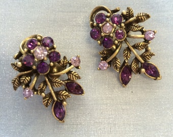 Vintage Signed Coro Clip Earrings
