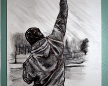 Customized pen drawing: Rocky Balboa
