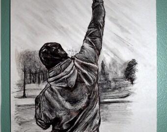 Customized pen drawing: Rocky Balboa