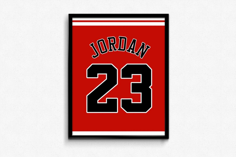 michael jordan number 23 chicago bulls jersey by finesportsprints. Black Bedroom Furniture Sets. Home Design Ideas