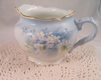 Antique O&EG Royal Austria Porcelain  Creamer Austria 1898-1918 Hand Painted Florals
