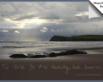 Magnet: Inspirational quote, sunrise at beach in Dingle, Ireland