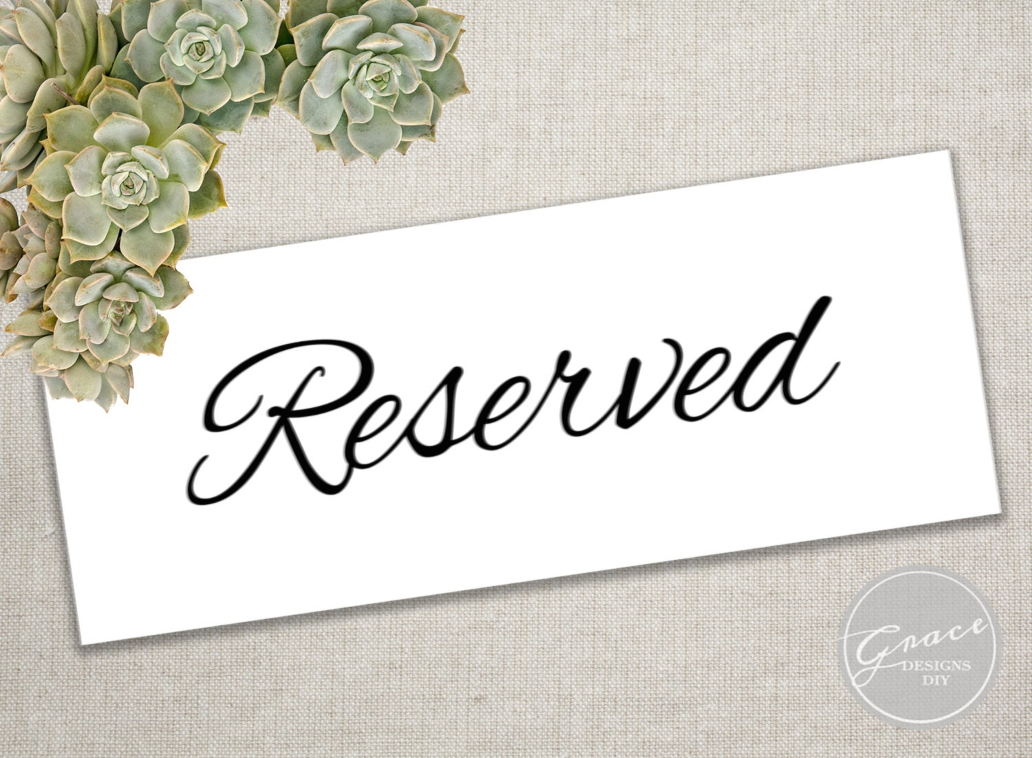 This is a graphic of Handy Printable Reserved Signs