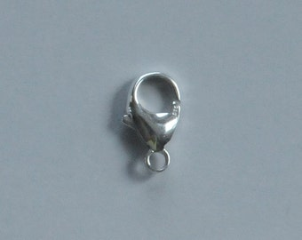 Sterling Silver, Large Lobster Clasp, Large Lobster Claw, 8x16mm, Fast Shipping from USA
