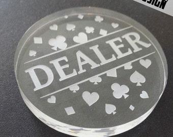 "Poker Dealer Button ""Spark"""