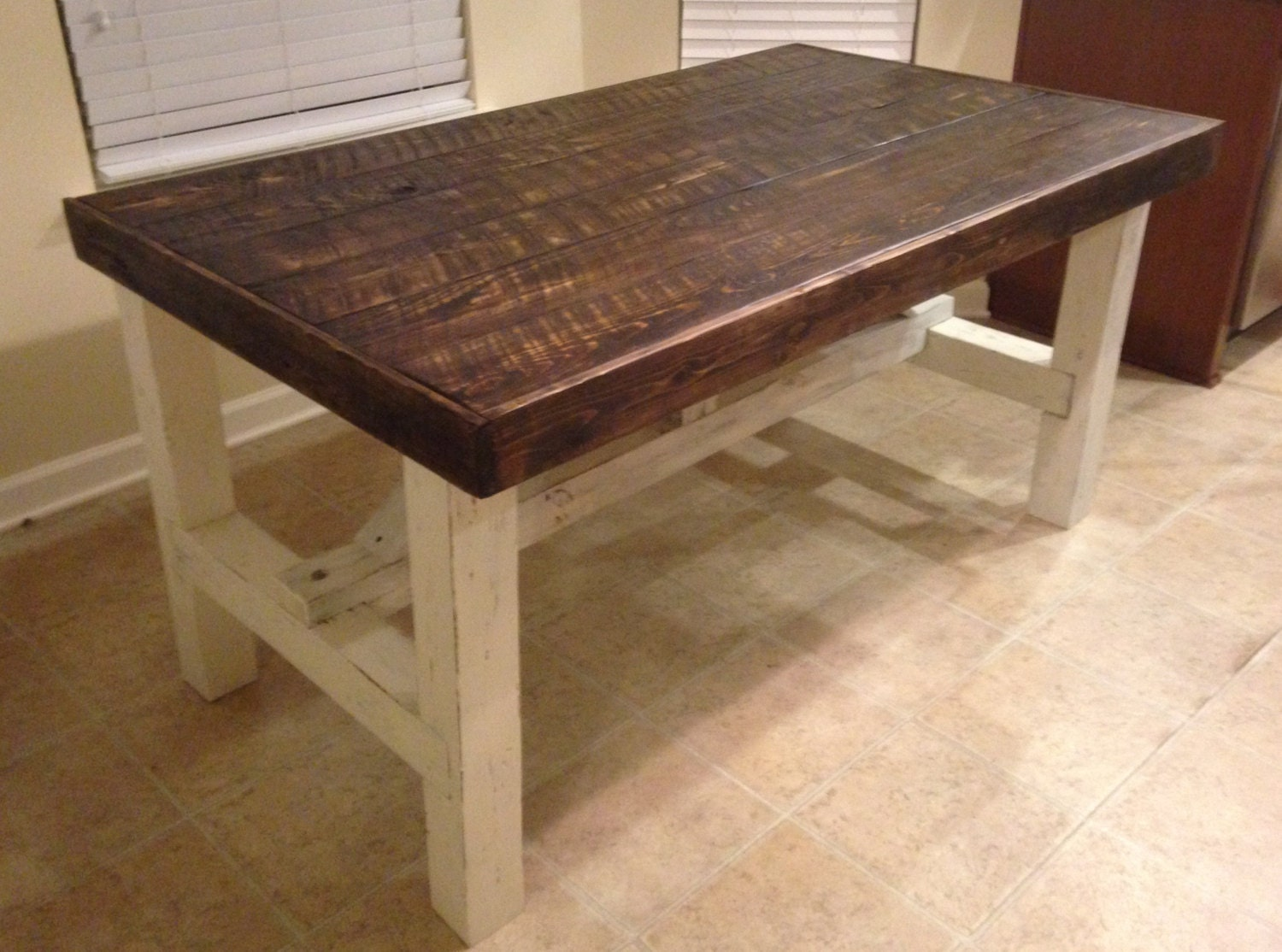 Rustic Custom Farmhouse Table by FiveSixteenOriginals on Etsy