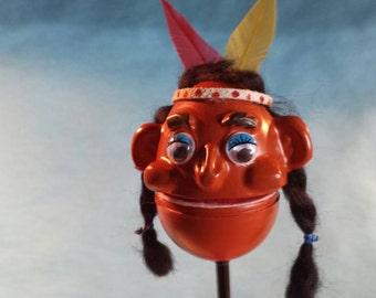 Indian Girl Puppenz - Thanksgiving Holiday Puppet Pen Topper